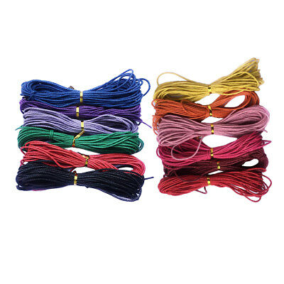 12 Wholesale 2mm Waxed Cotton String Jewelry Making Bracelet DIY Thread Cord