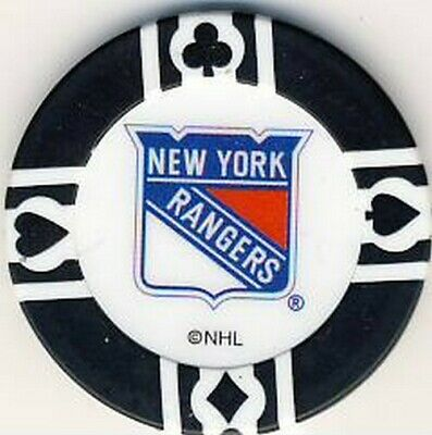 New York Rangers NHL Poker Chip Various Colours