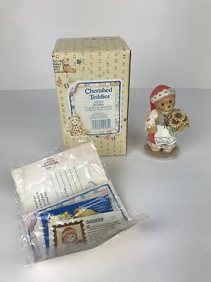 1996 Enesco Cherished Teddies Bear Figurine From Russia With Love 202320