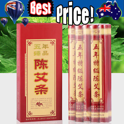 10-50X 5 Years Old Traditional Moxa Roll Moxibustion Relieve Pain Burner Stick