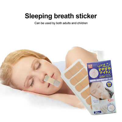 36pc Prevent Snoring Talk In Sleep Stop Snore Nose Patch Mouth Lip Sticker GE4