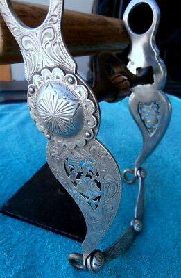 Vintage Filagree Sterling Silver Vogt Sweet Iron Mouth Horse Show Bit