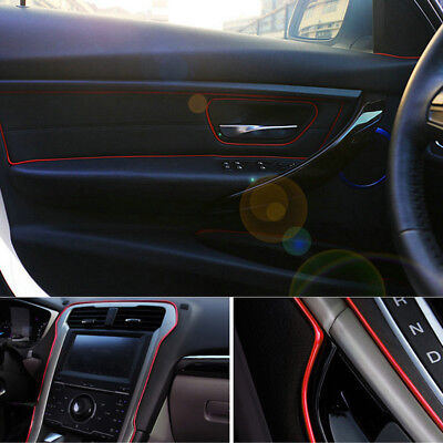 5M Point Molding Red Edge Gap Line Garnish For Car Interior Accessory Portable