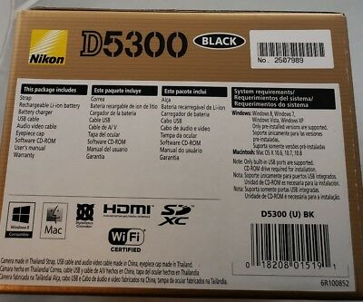 Nikon D D5300 24.2MP Digital SLR Camera - Black (Body Only)