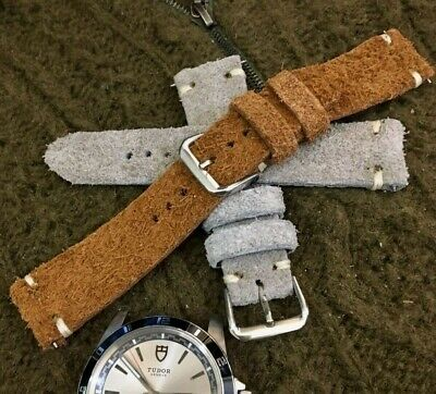 Italian Style Genuine Calf Leather Watch Strap H/M 18 19 20 21 22mm Camel, Gray