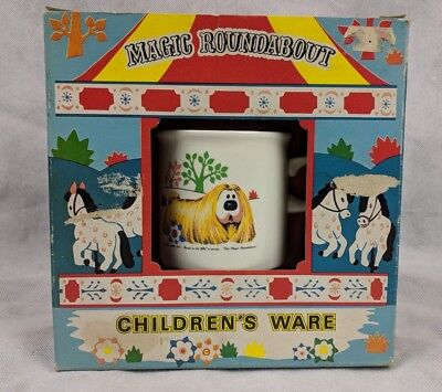 Rare Carrigaline Pottery Magic Roundabout Children's Ware Dinner Vintage Mint
