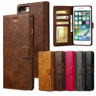 For iPhone X XS MAX XR 7 8 Flip Magnetic Leather Wallet Case Card Pocket Cover