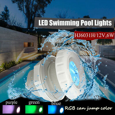 LED Swimming Pool Underwater Light  Hot Tub Spa Lamp RGB Color 2'' Wall Fitting