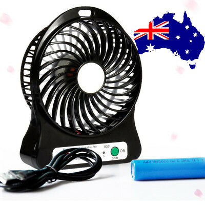 USB mini Portable Desktop Desk Fan Computer Laptop PC TV BOX AU Seller Black