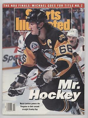 1992 Sports Illustrated #6-8 Mario Lemieux Pittsburgh Penguins Publications