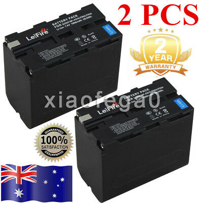 2 Pcs Battery for Sony NP-F970 NP-F960 CCD-SC CCD-TR CCD-TRV 7200mAh In AU Ship