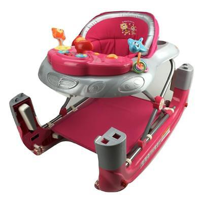 Sport Car Baby Walker 4in1 with Toys Plus Push Stand and Walk w Cup Holder Pink