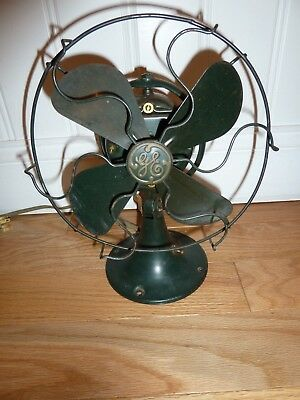 "Vintage GE Fan.  Excellent 12"" Oscillating Fan. Beautiful & Working.. 1920s"