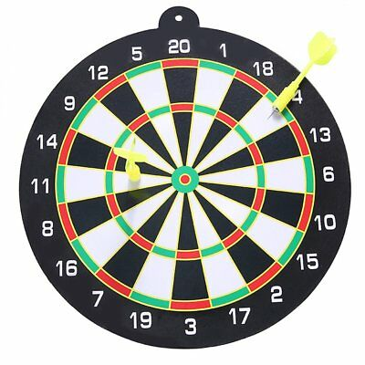 "Large 9"" Dart Board Set Dartboard Family Party Game Fun With 2 Magnetic Darts"