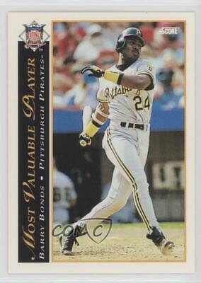1993 Score 482 Barry Bonds Pittsburgh Pirates Baseball Card