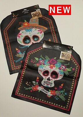 Outstanding Sugar Skull Day Of The Dead Chair Covers Halloween Caraccident5 Cool Chair Designs And Ideas Caraccident5Info
