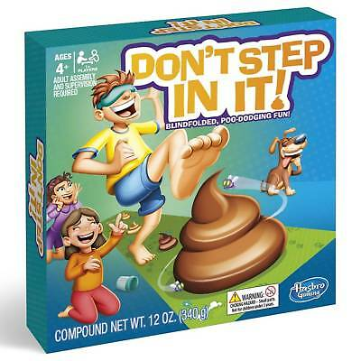 Hasbro Don't Step In It Game Blindfolded Poo-Dodging Fun Family Party Game Toys