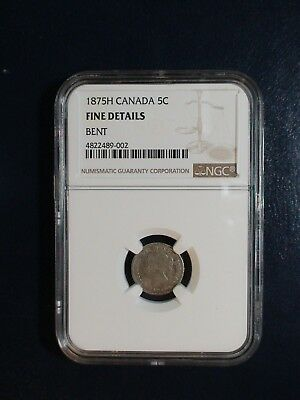 1875H Canada Silver Five Cents NGC FINE 5C Coin PRICED TO SELL NOW!