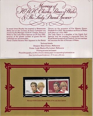 The Royal Wedding - Prince Charles and Lady Diana Spencer - 24c and 60c Stamps