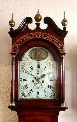 "A Fine Red Walnut ""Rocking Ship"" Georgian Longcase Clock C1790-1800"