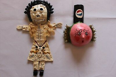 926 FACE and SKULL MEXICAN COCONUTS WALL DECOR 2 pzas coconut artesania FREE SHI