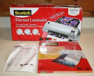 """Scotch Thermal Laminator TL901 & 1 packs of 50 pouches 8.5"""" x 11"""