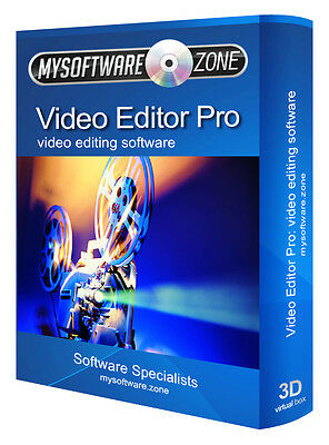 Dvd Avi Mpeg Mp4 Video Movie Editing Editor New Software Program Cd