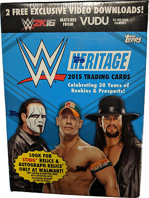 2015 Topps WWE Heritage, 7 Pack Box plus 1 Relic Card
