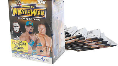 2015 Topps WWE Road To WrestleMania, 10 Pack Box plus 1 Relic Card