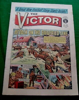 Kings Own Scottish Borderers At Siegfried Line  Ww2 Cover Story  Victor 1973