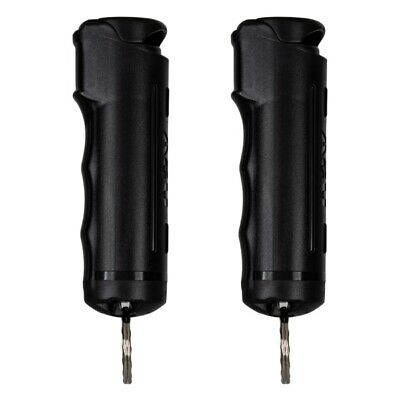 2 Police Magnum pepper spray .50oz black flip top keychain defense protection