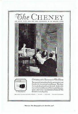 Vintage, Original, 1920 - The Cheney Phonograph Advertisement - Resonator