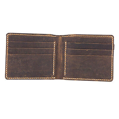 DIY Brown Leather Wallet Purse Bifold Kit Pre-cut DIY Leathercraft Projects