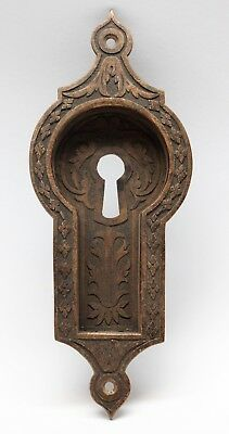 Antique Bronze East Indian Style Pocket Door Plate