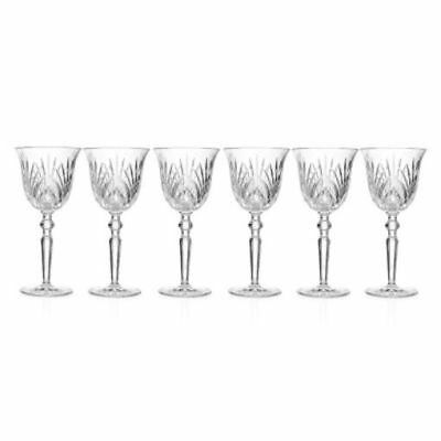 Marquis by Waterford Newberry Set of Six Crystalline Glasses Goblet