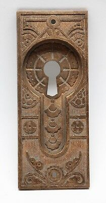 Bronze Eastlake Pocket Door Plate