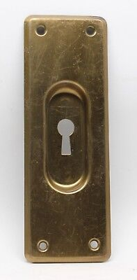 Brass Plated Pocket Door Plate