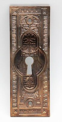 Ornate Bronze Pocket Door Plate