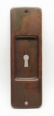 Bronze Pocket Door Plate with Warm Patina