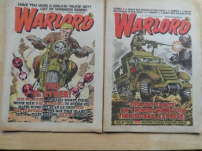 WARLORD & BULLET COMICS from 1978