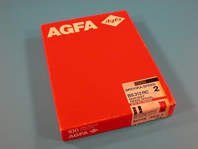AGFA Brovira-Speed BS 312 RC 18X24cm 100 Sheets Grade 2 Un-Opened Old Stock