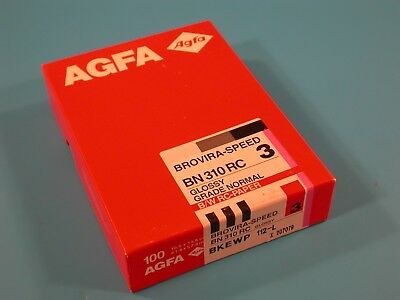 AGFA Brovira-Speed BN 310 RC 10X15cm 100 Sheets Grade 3 Un-Opened Old Stock