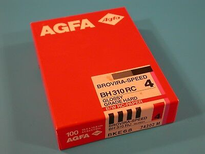 AGFA Brovira-Speed BH 310 RC 10X15cm 100 Sheets Grade 4 Un-Opened Old Stock