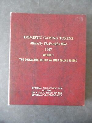 1967 Proof Set Franklin Mint Casino Gaming Tokens Vol 1 Mostly Nevada # 378/500