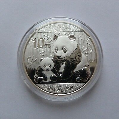 2012 Chinese Solid Silver Panda 1oz Bullion Coin (Encapsulated by the Mint)