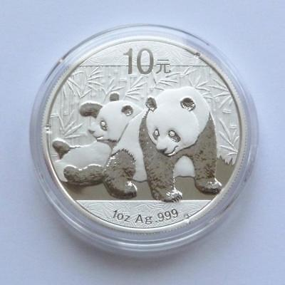 2010 Chinese Solid Silver Panda 1oz Bullion Coin....( Encapsulated by the Mint )