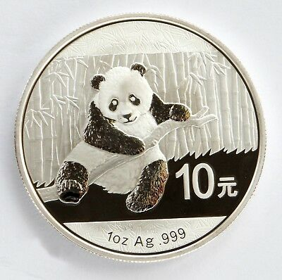 2014 Chinese Solid Silver Panda 1oz Bullion Coin (Encapsulated by the Mint)