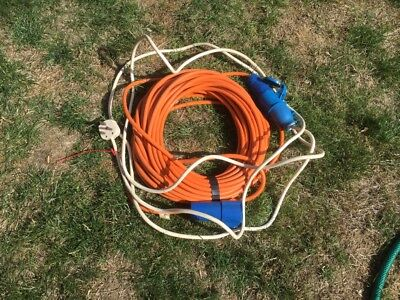 23metre 16A 240V. Mains extension lead,Caravan,Motorhome, Boat etc.
