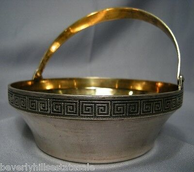 Antique Russian Silver Gilt 916 Basket