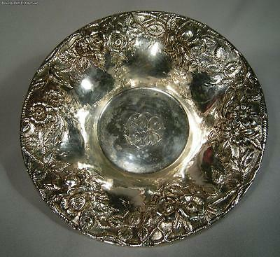 S. Kirk And Son Co Plata de Ley Repujado Floral Candy Bowl